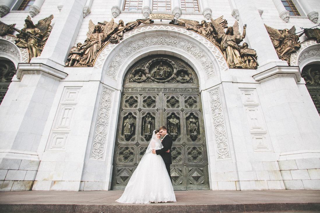 Венчание в храме Христа Спасителя